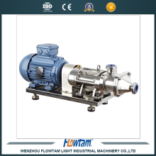 parallel pump twin screw pump with cooling and heating jacket
