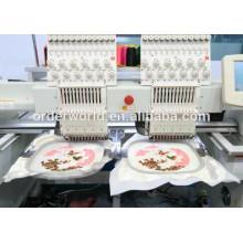 Machine informatisée de broderie de T-shirt de doubles têtes