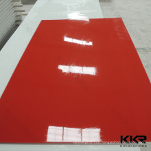 100% pure red acrylic solid surface kitchen acrylic counter top