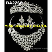 Colar de cristal de casamento fashional luxuoso