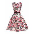 Dernière robe sans manches une pièce imprimée fille fleur causale