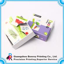 Niños tarjetas de aprendizaje de inglés con caja de regalo