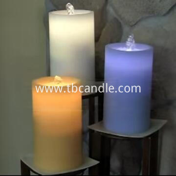 color change fountation candle