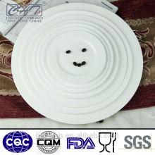 Heißer Verkauf super weiße feine Knochenporzellan-Abendessenplatte