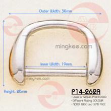 Precio de fábrica Aleación de zinc Pequeños anillos de plata D brillantes para bolso