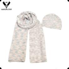 2016 moda senhoras irregulares malha inverno lenço e chapéu