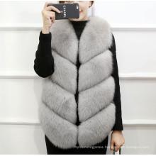 Fancy Good Quality Winter Womens Padded Top Furry Half Jacket Vest for Women
