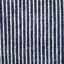 Tissu à rayures bleues et blanches en coton au coton de 240GSM (QF13-0014)