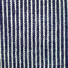240GSM algodão de cânhamo Blue & White Stripe tecido (QF13-0014)