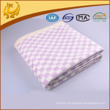 Top Quality Cashmere Feeling tejido jacquard cepillado seda lanzamiento con borde plegado
