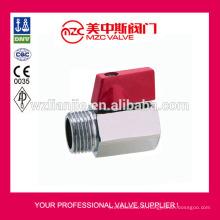 Mini robinet à tournant sphérique en acier inoxydable F/M fileté extrémités PN63 Mini robinet à tournant sphérique