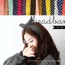 Polkadot Rabbit Ear Headband for Lady or Girl (HEAD-03)