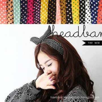 Polkadot Rabbit Ear Headband for Lady or Girl (HEAD-03)
