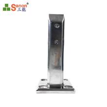 foshan factory  hunting series stainless steel pool column  glass spigot  mirror  or sanding clip 12mm toughened glass