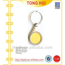 Metal gold coin shape blank keychain/keyrings for promotion gifts