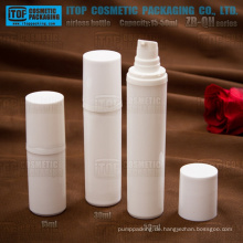 ZB-QH Serie 15ml 30ml 50ml weiß PP Kunststoff Farbe anpassbare Lotion Pumpe Runde Airlesses Pumpe Flaschen