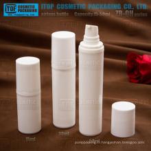 ZB-QH série 15ml 30ml blanc 50ml PP en plastique couleur pompe lotion personnalisable flacons pompe rond airlesses
