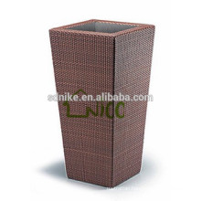 2014 hot sale outdoor rattan garden vase