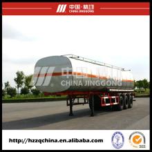 El fabricante chino ofrece el remolque del tanque del acero de carbono Q345 para el envío diesel ligero del aceite40800L (HZZ9400GYY)