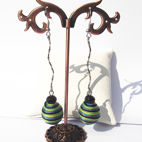 Multicolor Handmade Thread Earring