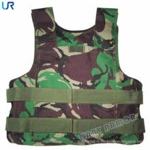 Armure de corps militaire en camoulage PE