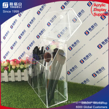 Transparent Box Design Acrylic Makeup Brush Holder