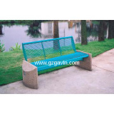 Outdoor metal bench seating/garden stone bench for sale