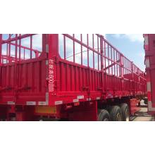 Tri Axles Heavy Duty Delivery Animal Transport Stake Fence Semi Trailer