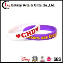 Pulseira de pulseira de Silicone promocionais de moda personalizada para presentes da promoção