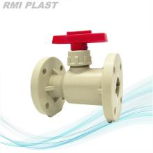 Lever Type PP Ball Valve Flange End DIN