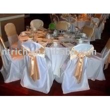Satin chair cover, Banquet/hotel chair cover, satin sash