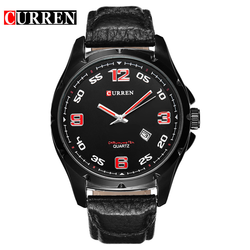 High-End Business Fashion Leather Bracelet Watches