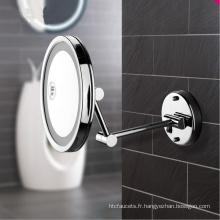 Miroir cosmétique de salle de bains fixé au mur latéral simple ultra mince avec LED allumé pour l'hôtel