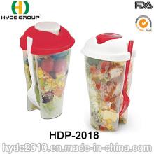 Salad Shaker Cup avec récipient de vinaigrette séparé (HDP-2018)