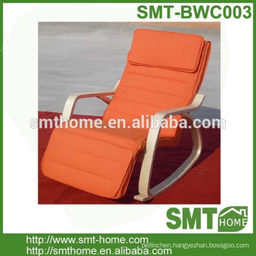 Cheapest leisure promotion rocking bentwood chair for supermarket
