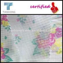 Telar jacquar pequeña impresión de telas de la ropa de telas perforadas o sienta hilado suave tejido telas/fina mujer