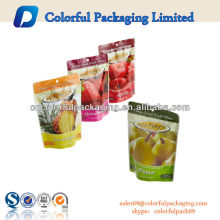 Transparent OPP Dry Fruit Packaging Bags With Zipper & Hang Hole, 250g Nuts Packaging Bags
