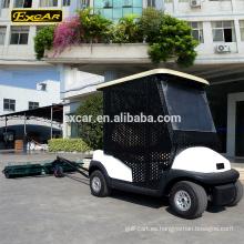 EXCAR - Camión carrito de golf eléctrico de 2 plazas con carrito de recogida de golf