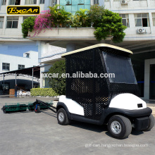 EXCAR 2 seater electric golf cart ball pick up cart with golf ball picker