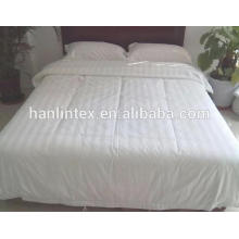 100% cotton 300TC 3cm stripe hotel bed linen & bedding set fabric for hotel