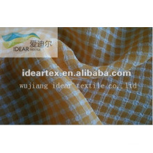 Jacquard Grid Fashion Faille Fabric for Lady Dress