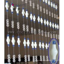 Cortina frisada de cristal para decoração de escritório ou casa