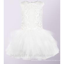 High Quality flower girl dress tulle lovely lace flower girl dress for wedding Children Girl Dress ED744