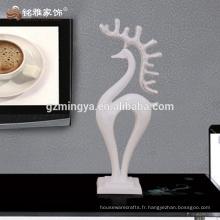 Décoration de maison de l'hôtel Décorations maison Objets d'art en résine Décoration de statue de résine de cerf