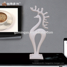 Hotel restroom decoration home decors resin art crafts deer resin statue ornaments