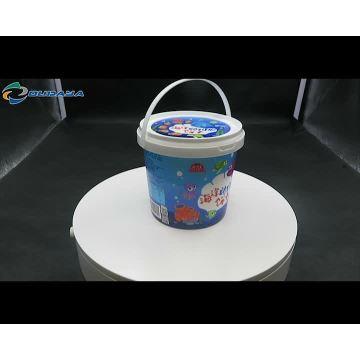 Gefüllte manipulationssichere Kunststoff-Farbeimer Plastikeimer