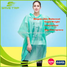 Ningbo raincoat manufacturer 100% waterproof transparent poncho liner