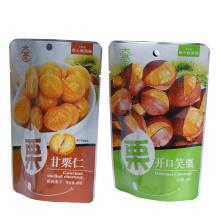 Castanha chinesa personalizada levante-se saco de embalagem