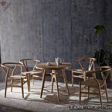 Solid Wood Rattan Y Chair Restaurant Chair Table Set (SP-CT585)