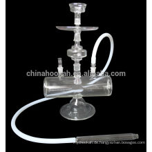 45 cm 18 Zoll OEM hohe Menge alle klare Glas Wasserpfeife mit LED Licht